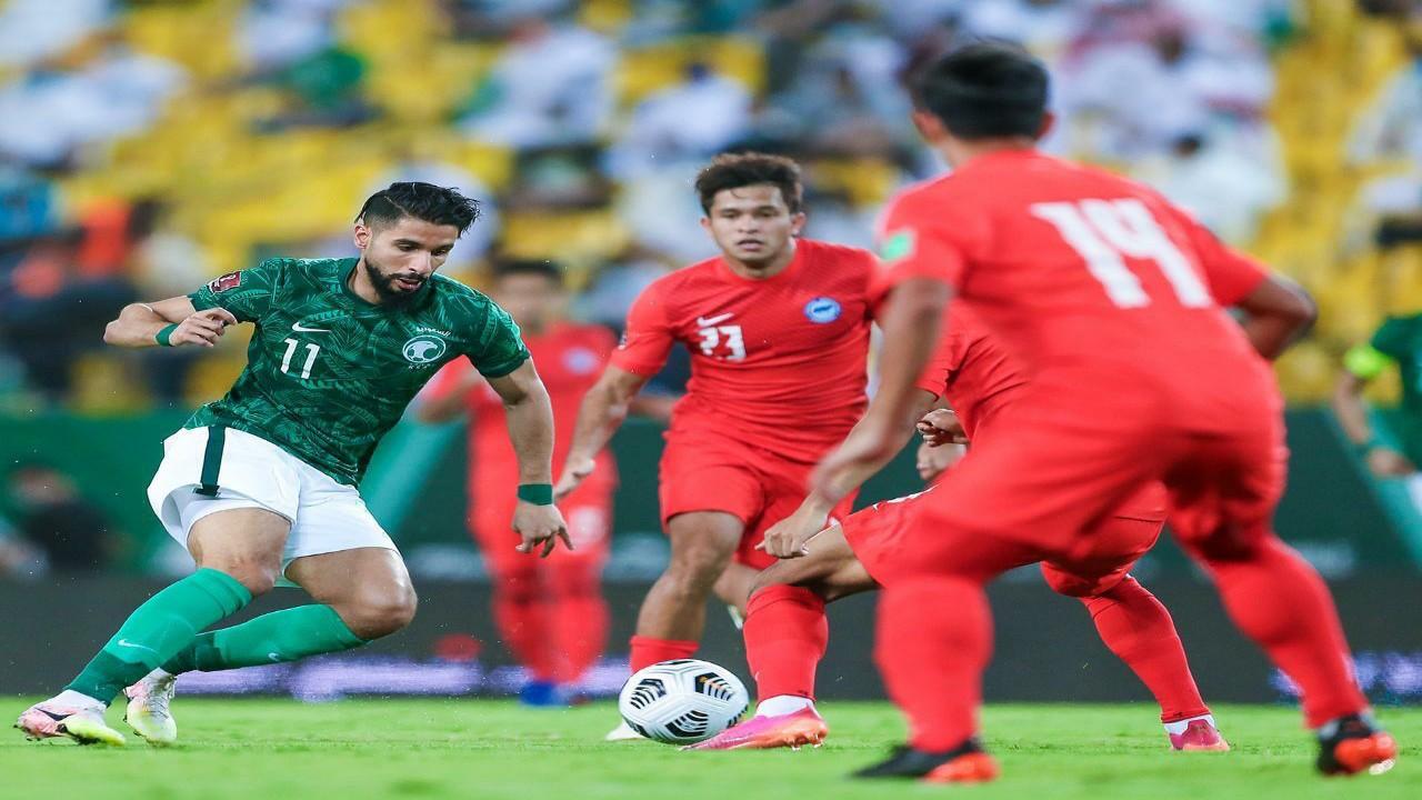 بالفيديو .. الأخضر يفوز على سنغافورة بثلاثية نظيفةفي التصفيات النهائية لكأس العالم 2022