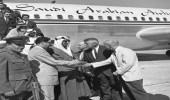 صورة قديمة لاستقبال الملك سعود في ولاية فلوريدا