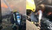 بالصور.. إندلاع حريق بإحدى المستودعات في الدمام
