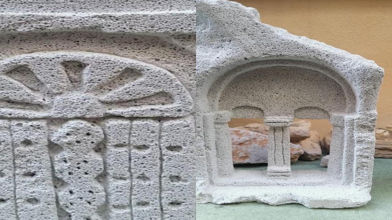 بالصور.. فنان يحول الأحجار إلى مجسمات أثرية