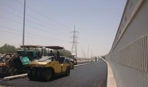 بالصور.. 90% نسبة إنجاز مشروع جسر طريق الأمير نايف مع تقاطع سكة الحديد بالدمام