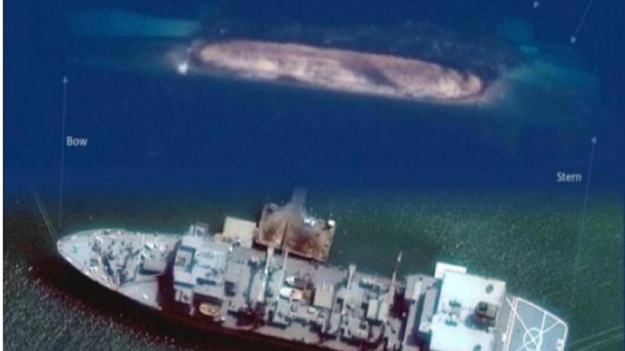الأقمار الصناعية تلقتط صورا لغرق «وحش البحرية» الإيرانية