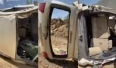مواطن ينجو من الموت بعد سقوط سيارته في عقبة بسودة عسير