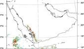 """""""الأرصاد"""" يتوقع هطول أمطار رعدية على عدة مناطق"""