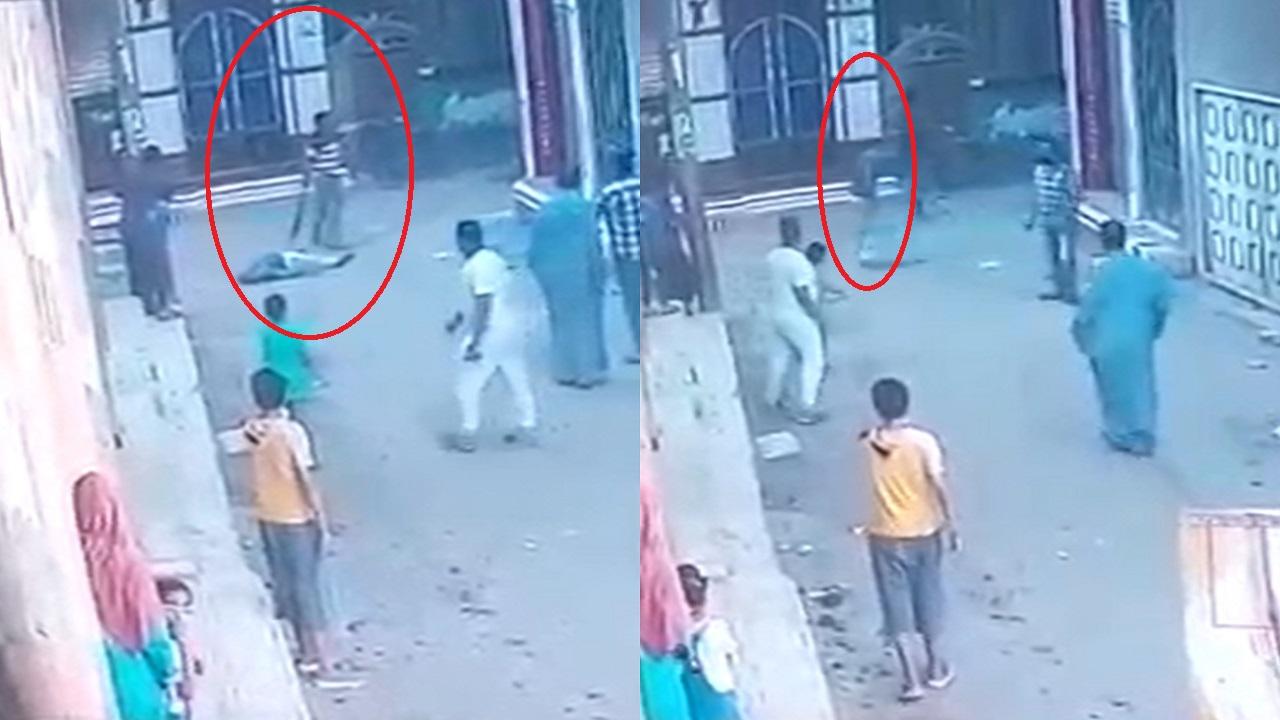 فيديو.. مقتل إمام مسجد على يد ابن خالته وسط الشارع
