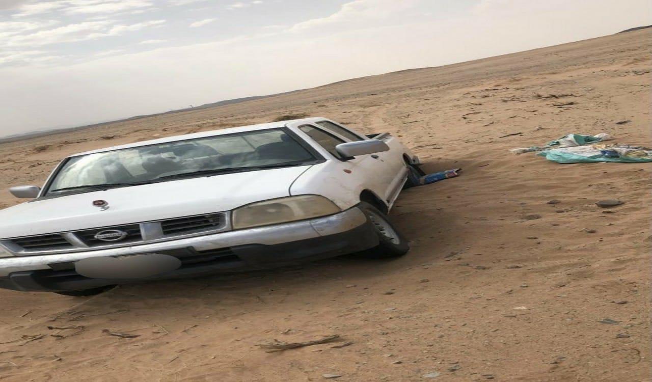 تفاصيل العثور على مفقود عفيف متوفيا بالصحراء بعد علوق سيارته في الرمال