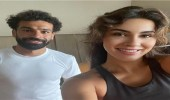 """صور.. محمد صلاح مع ملكة جمال الهند في """"الجيم"""""""