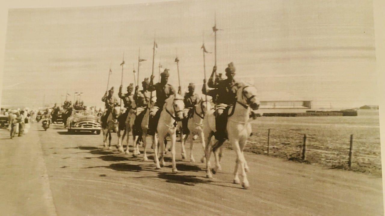 صور نادرة تظهر استقبال الملك سعود في البحرين عام 1954