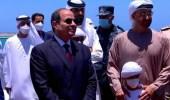 """فيديو.. لقطة طريفة للشيخ محمد بن زايد مع حفيده خلال افتتاح قاعدة """"3 يوليو"""""""