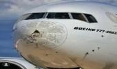 """تساقط البرد يتسبب في تضرر طائرة الإمارات البوينج أثناء تحليقها """"صور"""""""