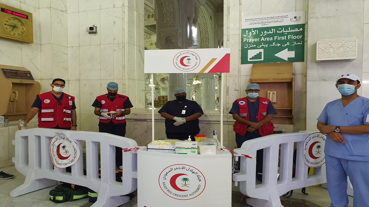 الهلال الأحمر يتأهب بـ 25 مركز إسعافي  لاستقبال الحجاج بالعاصمة المقدسة