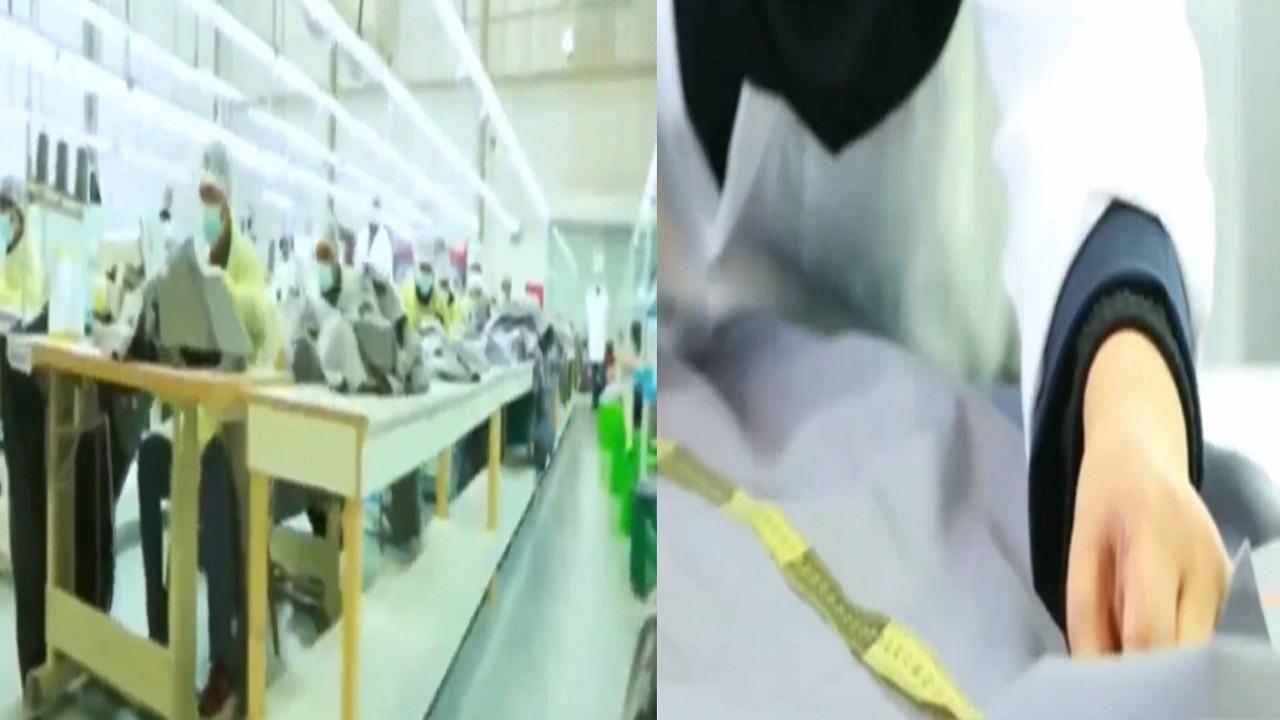 فيديو.. مواطنة تصمم زيًا عسكريًا يحجب رصد تحركات مرتديه