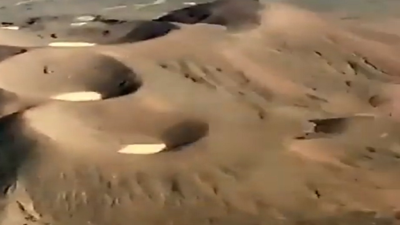 بالفيديو.. مناظر للأثار البركانية في المدينة المنورة