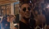 فيديو.. محمد رمضان يتسبب في غلق مطعم بدبي