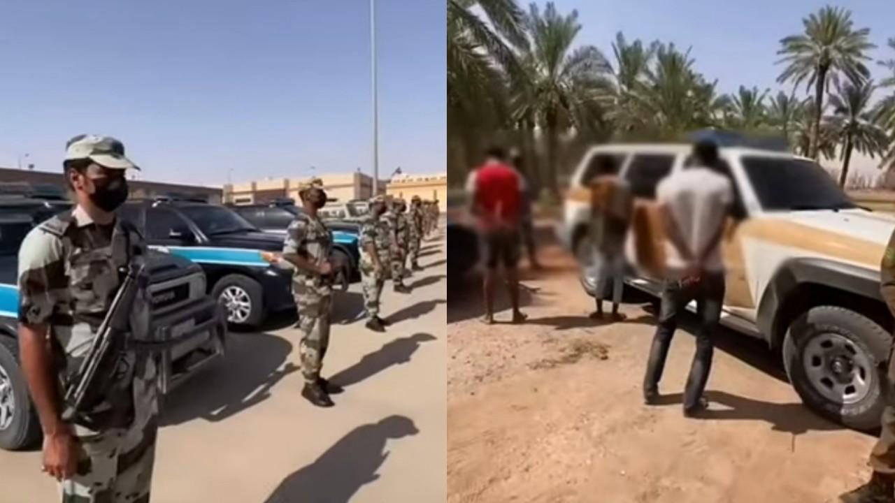 بالفيديو.. القبض على عدد من مخالفي نظام الإقامة والعمل بالقصيم