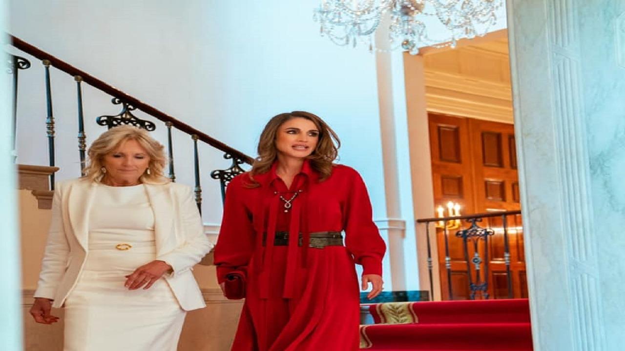 صور..إطلالة الملكة رانيا في البيت الأبيض تخطف الأنظار