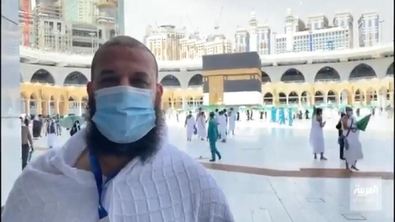 بالفيديو.. حاج مصري يتحدث عن التفويج إلى الحرم المكي وأداء طواف القدوم