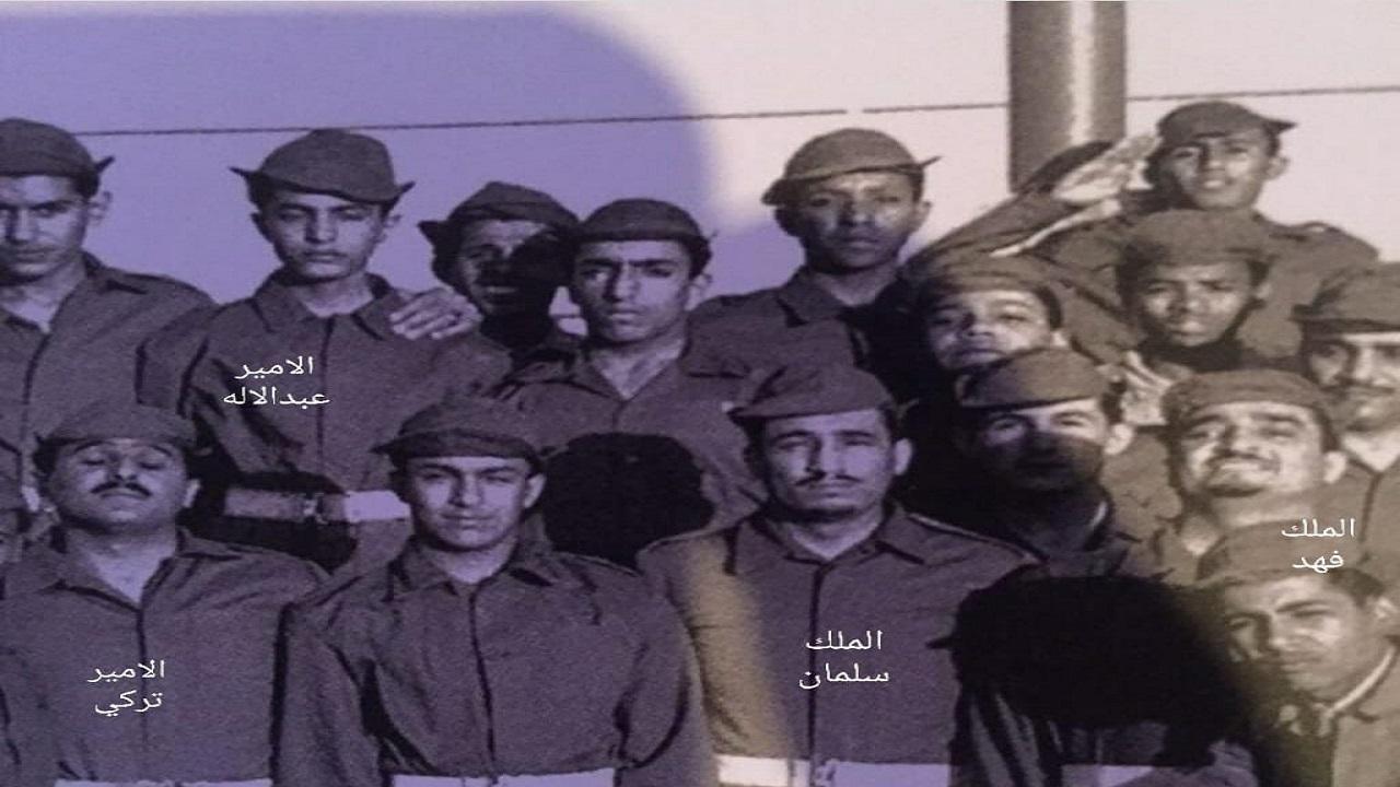 صورة نادرة للملك سلمان بالزي العسكري