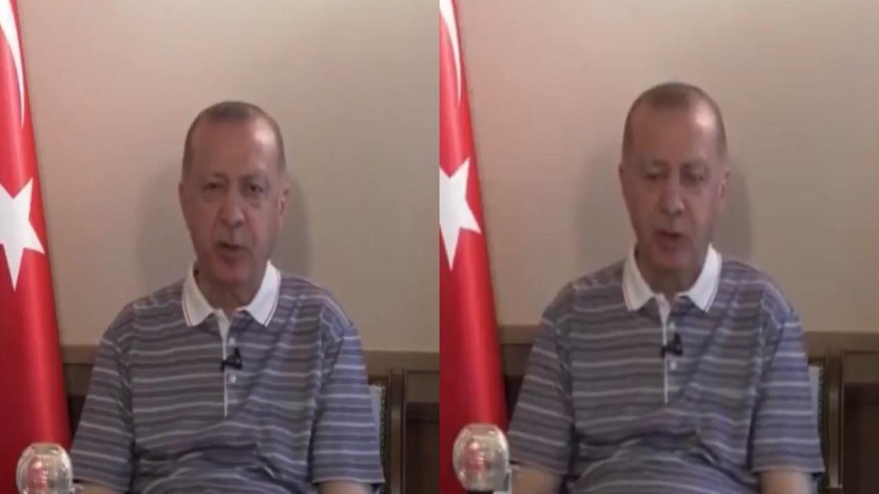 فيديو..أردوغان يظهر في حالة غير طبيعية ويثير السخرية