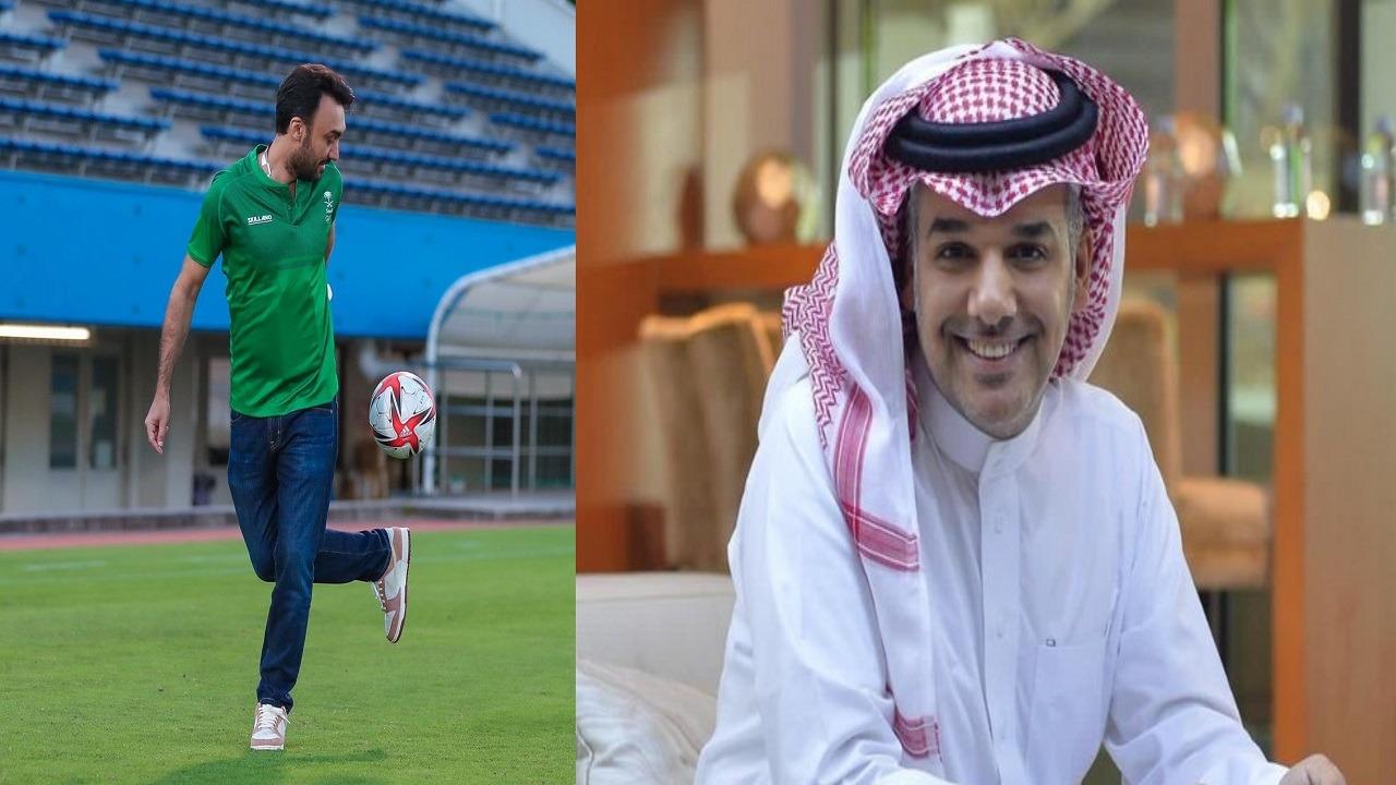 النفيعي معلقًا على صورة وزير الرياضة: نحتاج لاعب مميز بس مدري الإدارة توافق والا لا