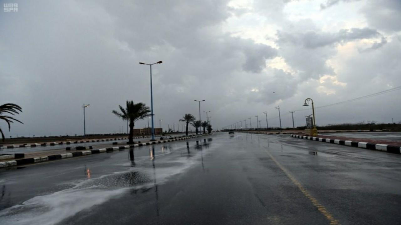 هطول أمطار غزيرة على منطقة جازان