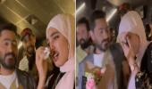 بالفيديو.. تامر حسني يحاول تهدئة فتاة بكت بشدة عندما رأته