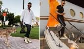 """بالفيديو .. محمد رمضان يظهر بصحبة """"فهد"""" ويستعرض طائرته الفاخرة"""