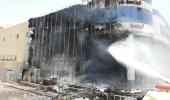 """اندلاع حريقفيواجهة محل تجاري بحي العزيزية بالرياض """"صور"""""""
