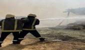 """مدني الأفلاج يسيطر على حريق اندلع في مستودع أعلاف """"صور"""""""