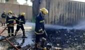 اندلاع حريق في مطار بالعراق وإنقاذ حاوية صواريخ