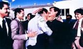 استقبال الأمير عبدالعزيز بن سلمان لشقيقه الأمير سلطان بعد عودته من رحلة الفضاء (صورة)