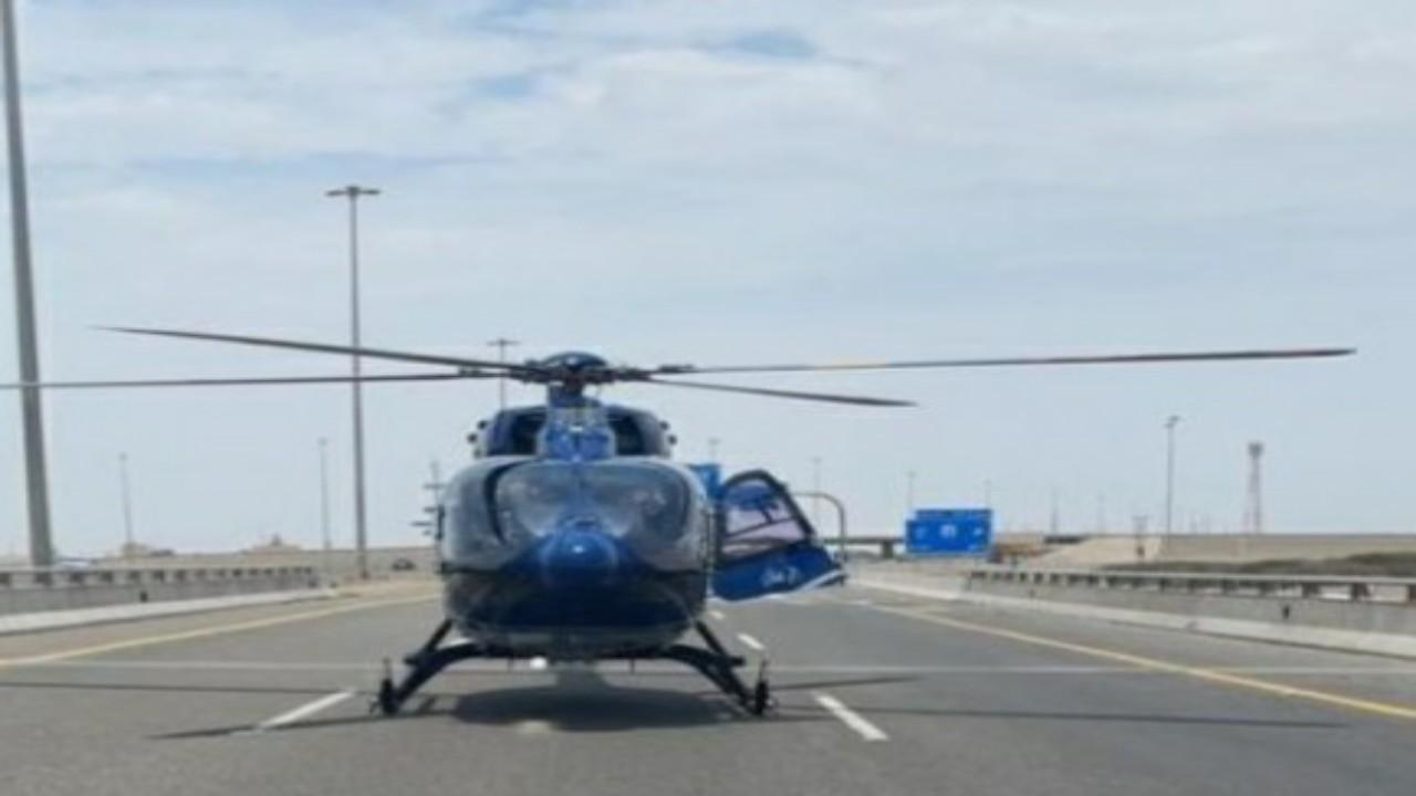 نقل 10 مصابين في حادث تصادم على طريق المدينة المنورة عبر طائرة و7 فرق إسعاف