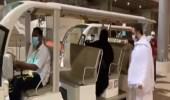 بالفيديو.. عربة كهربائية لتسهيل تنقلات ذوي الإعاقة في جسر الجمرات