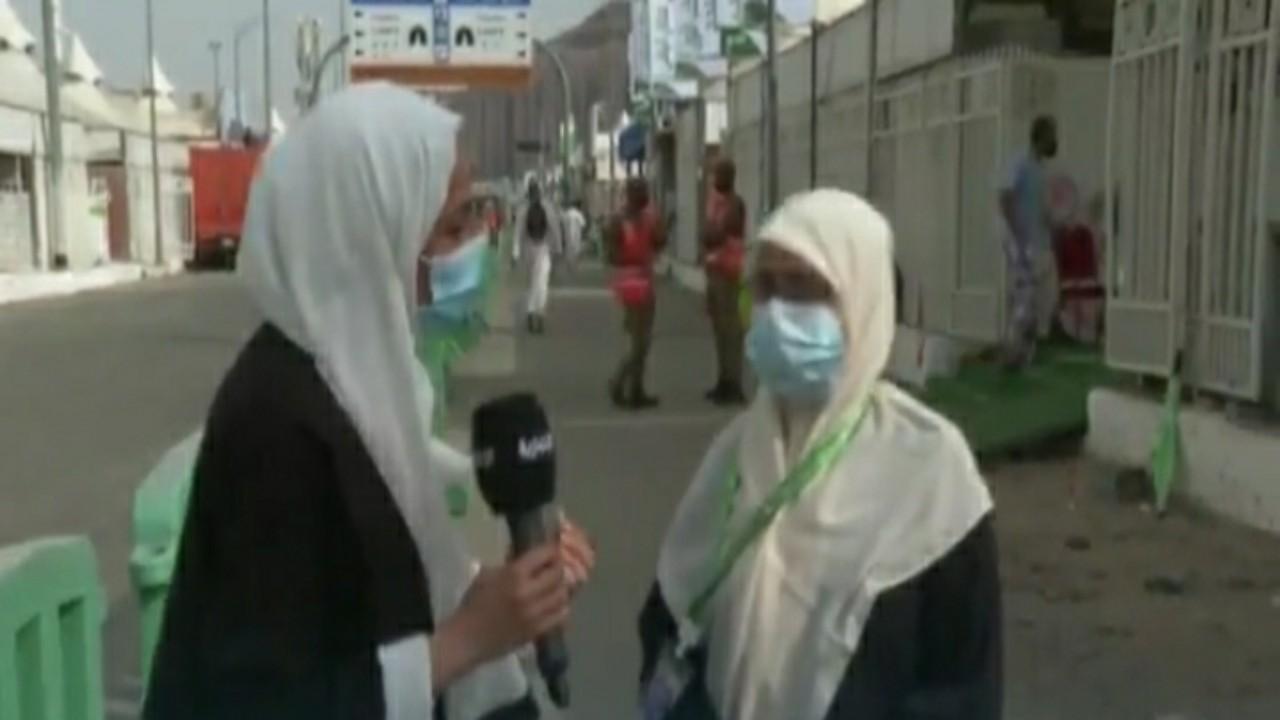 """بالفيديو.. عائلة سعودية تحقق أمنية الحاجة المغربية """"مينا"""""""