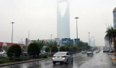 هطول أمطار على أجزاء متفرقة من الرياض