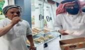 فيديو.. شخص يأكل حبة برشومي بشوكها مقابل 500 ريال