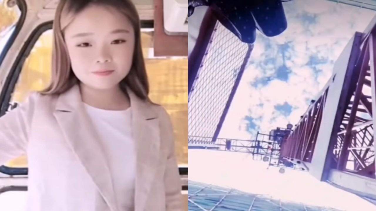 بالفيديو.. لحظة سقوط فتاة من ارتفاع 50 مترًا أثناء بث مباشر