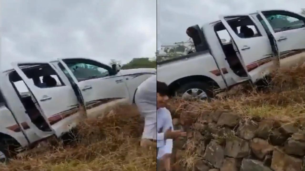 فيديو.. العناية الإلهية تنقذ مواطنين من الموت إثر سقوط سيارتهم بجبال فيفاء