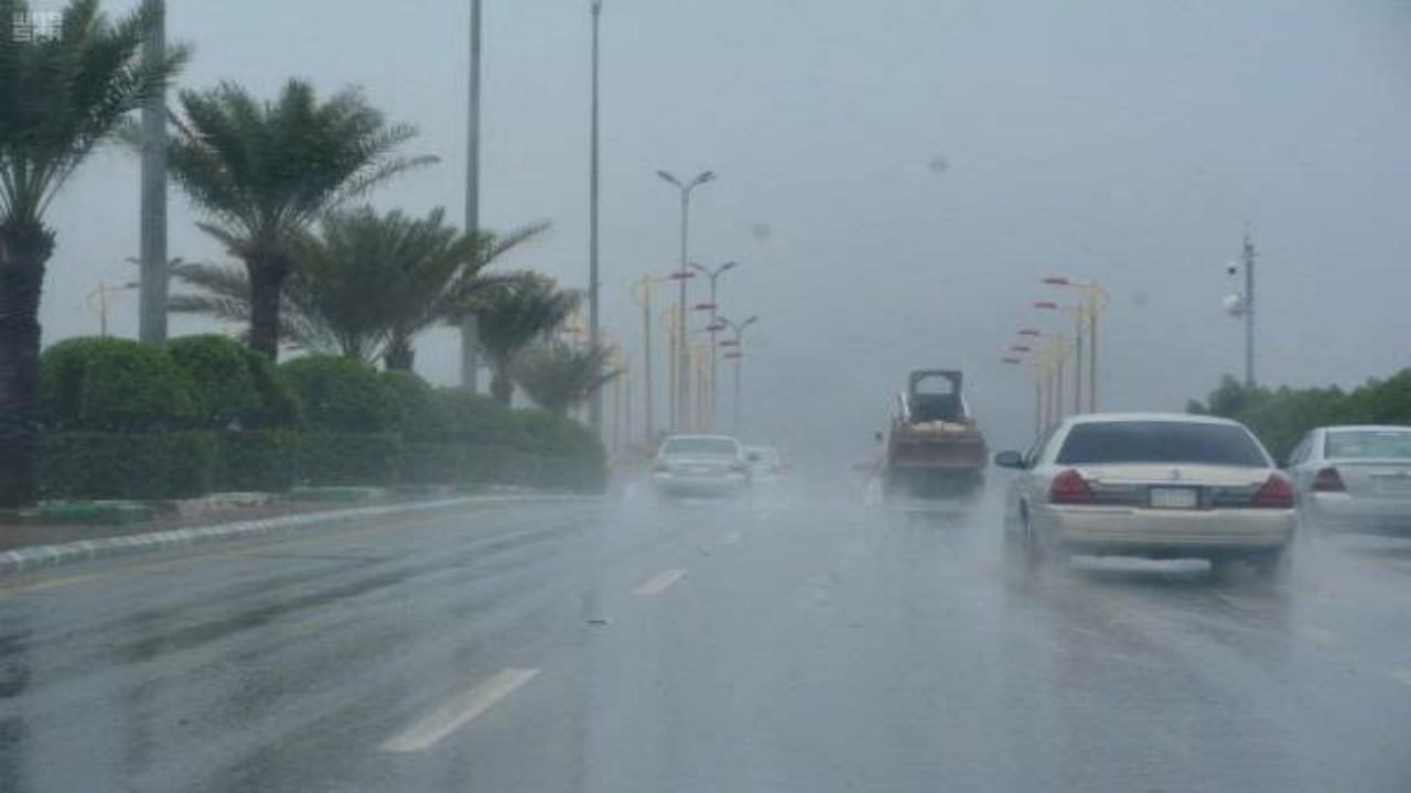 الأرصاد:هطول أمطار رعدية مصحوبة برياح نشطة مثيرة للأتربة على عدة مناطق