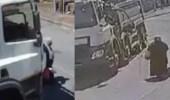 بالفيديو.. امرأة تنجو بأعجوبة من حادث دهس أثناء عبور الطريق