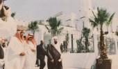 صورة نادرة للملك سلمان في افتتاح مسجد خادم الحرمين في جبل طارق