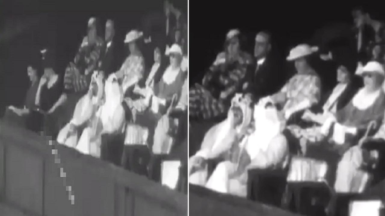 فيديو نادر للملك سعود أثناء حضوره بطولة ويمبلدون للتنس