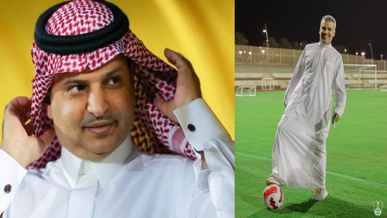 """رئيس النصر للنفيعي: """"زين إنك تعرف تثبت الكرة"""""""
