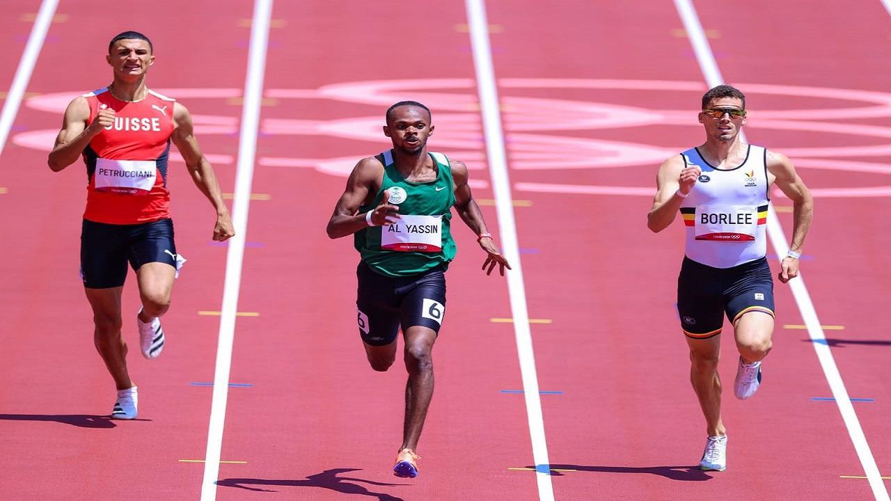 مازن الياسين يحتل المركز الرابع في نصف نهائي سباق 400متر