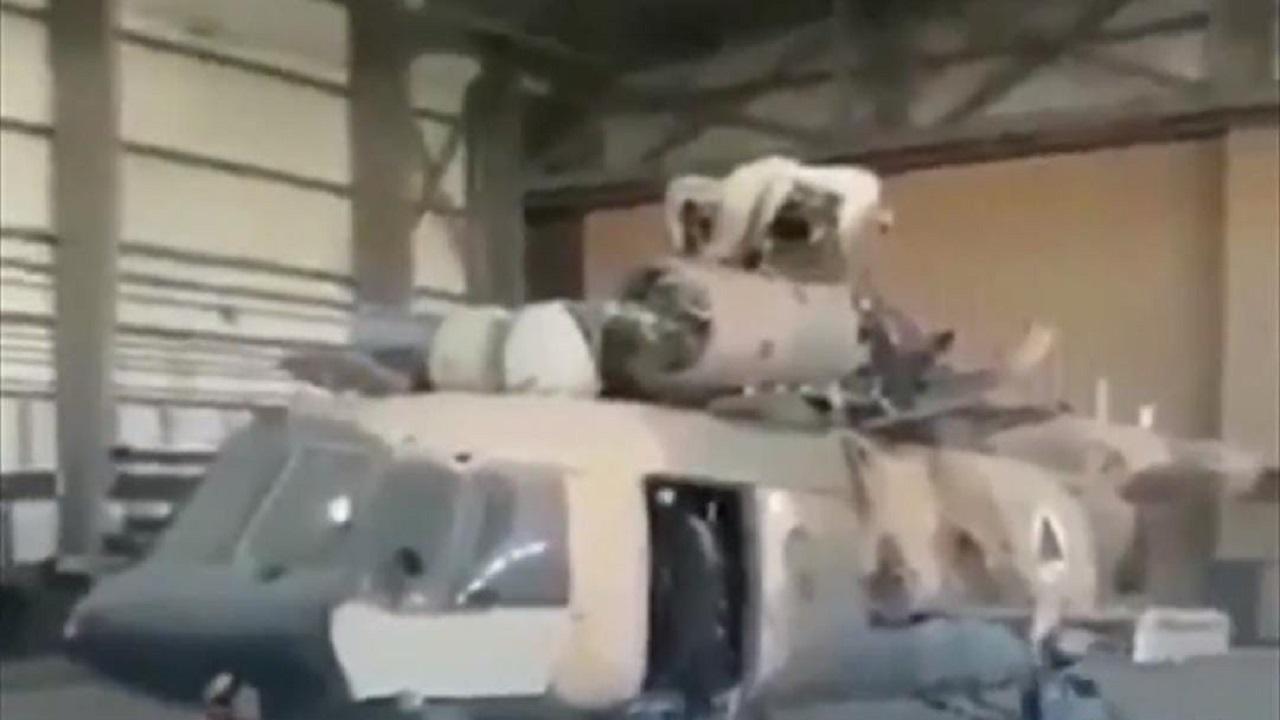 بالفيديو.. عناصر طالبان تستولي على مروحيات روسية في مدينة شيندند بولاية هرات