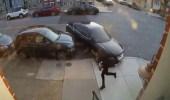 بالفيديو.. سيدة تنتقم من زوجها بمحاولة دهسه بالسيارة عدة مرات