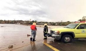 الدفاع المدني يدعو إلى توخي الحيطة لاحتمالية استمرار هطول الأمطار الرعدية