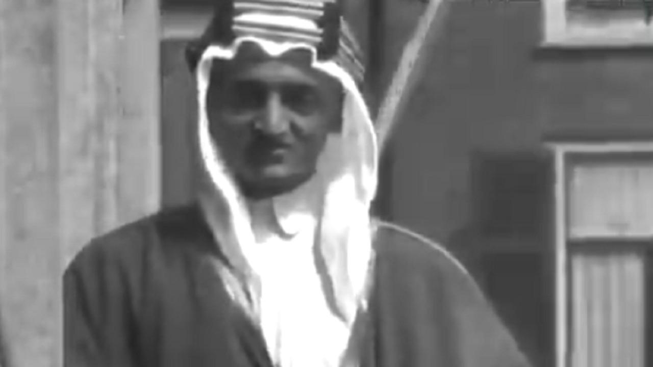 فيديو نادر لكلمة الملك فيصل في بث تلفزيوني بهولندا قبل 93 عاما