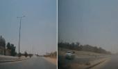 بالفيديو.. تفحيط ينتهي بكارثة وحادث مروع في طريق عام