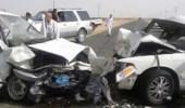 حادث تصادم مروع لـ 22 مركبة إثر موجة غبارية مفاجئة في الأفلاج